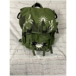 Military style OD green backpack